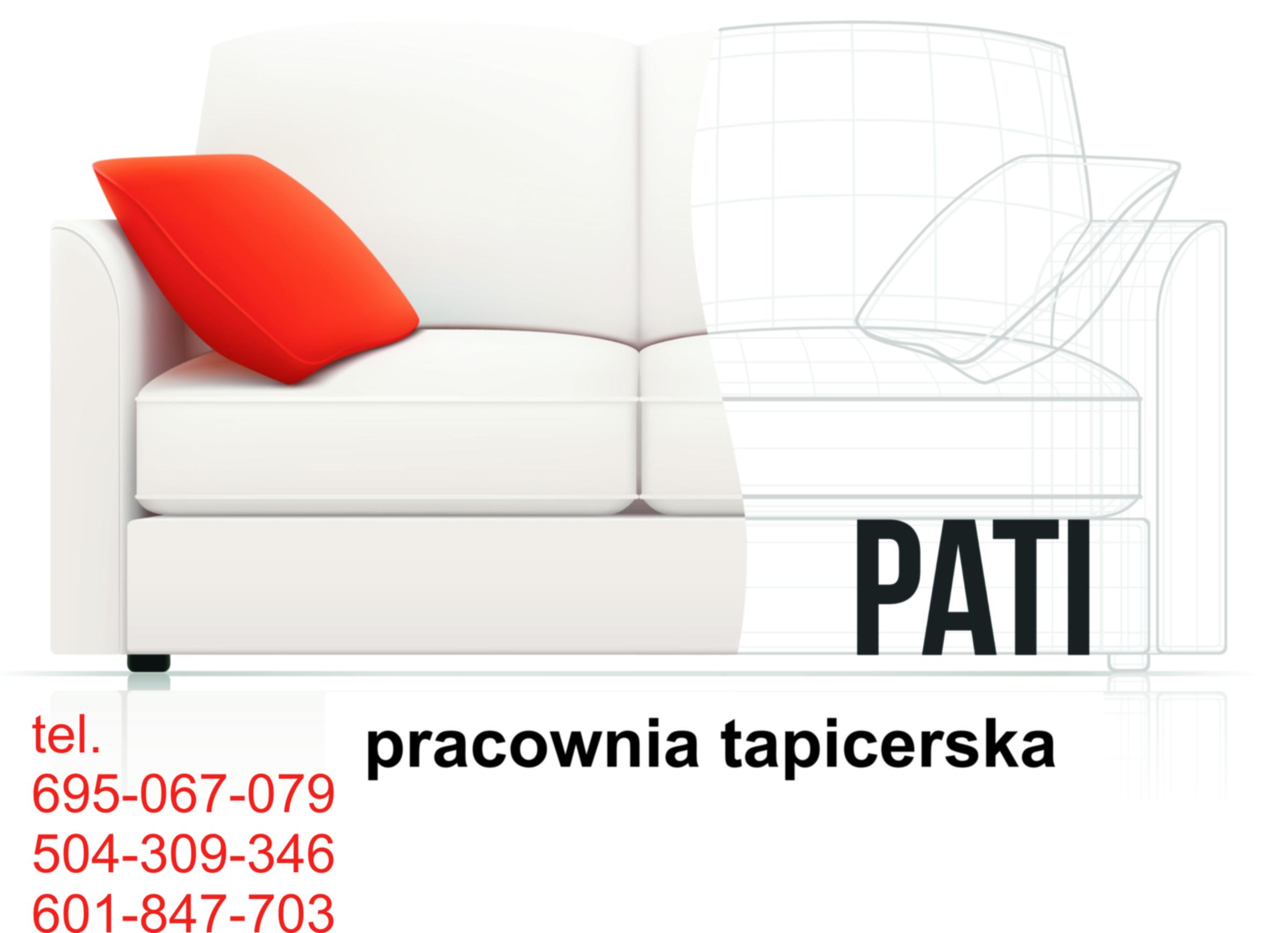 Reklama Zakładu tapicerskiego PATI